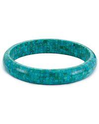Samuel B. Mosaic Turquoise 8.75in Bangle - Blue