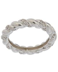 Alanna Bess Limited Edition Silver Cz Rope Ring - Metallic