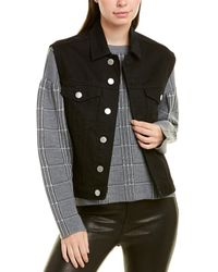 Maje Denim Vest - Black