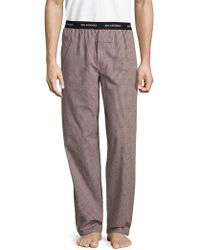Ben Sherman Jacquard On Check Woven Lounge Pant - Multicolour