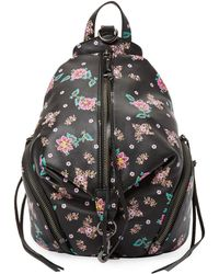Rebecca Minkoff Medium Julian Floral Backpack - Black