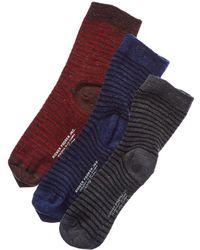 Richer Poorer - Set Of 3 Wool-blend Crew Sock - Lyst