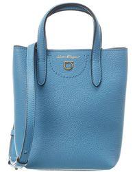 Ferragamo Mini Leather Tote - Blue