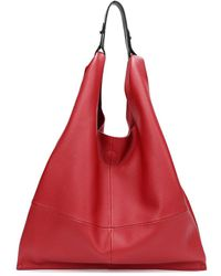 Tiffany & Fred Leather Tote - Red