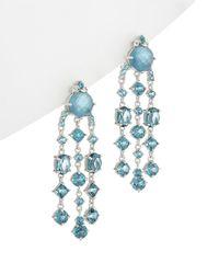Judith Ripka - Silver 31.99 Ct. Tw. White Topaz Drop Earrings - Lyst