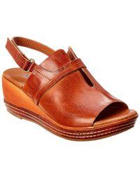 Antelope 437 Leather Wedge Sandal - Brown