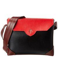 MANU Atelier Bold Combo Leather Crossbody - Red