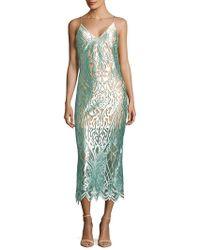ABS By Allen Schwartz - Intricate Mesh Slip Dress - Lyst