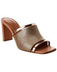 Malone Souliers Demi 70 Glitter & Leather Sandal - Metallic