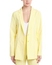 BCBGMAXAZRIA Pleated Blazer - Yellow