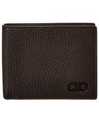 Ferragamo Gancini Leather Bifold Wallet - Black