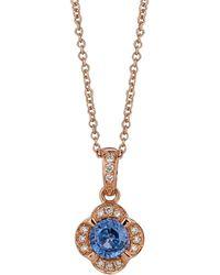 Le Vian - Chocolatier® Blueberry Tanzanite® & Vanilla Diamond® Pendant Necklace - Lyst