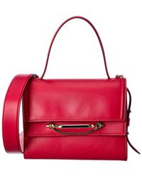 Alexander McQueen The Story Small Leather Tote - Red