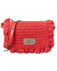 RED Valentino Straw Shoulder Bag - Red