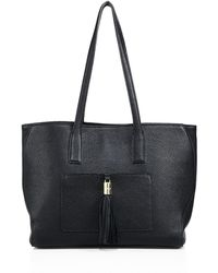 MILLY - Astor Large Pebble Leather Tote - Lyst