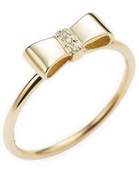 Sydney Evan Gold Ribbon Ring