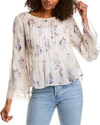LoveShackFancy Paulette Silk Top - Multicolour