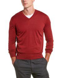 Brunello Cucinelli Cashmere V-neck Sweater - Red