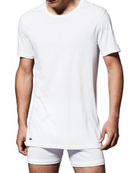 Lacoste - 3-pack Essentials Crew Neck Tee - Lyst