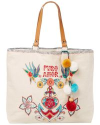 Star Mela - Rosio Embroidered Tote - Lyst