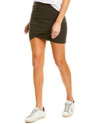 James Perse Skinny Mini Skirt - Brown