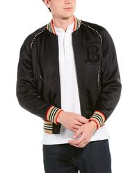 Burberry Men's Harlington Knit Bomber Jacket - Black