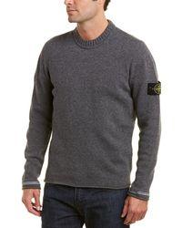 Stone Island Wool-blend Jumper - Gray