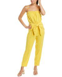 BCBGeneration Tie-front Jumpsuit - Yellow