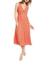 Rebecca Taylor - Malia Floral Silk-blend Midi Dress - Lyst