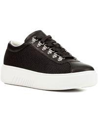 Geox Nhenbus Leather Sneaker - Black
