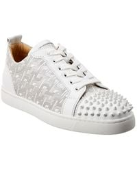 Christian Louboutin - Louis Junior Spikes Leather Sneaker - Lyst