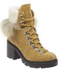 Sigerson Morrison Women's Naia Round Toe Suede Hiker Boots - Multicolour