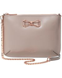 Ted Baker - Geometric Bow Leather Crossbody Bag - Lyst