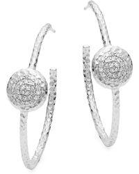 Phillips House - Affair 14k White Gold & Diamond Hoop Earrings - Lyst