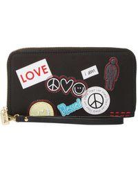 Peace Love World - Symbols Zip Around Wristlet Wallet - Lyst