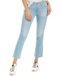 AG Jeans The Jodi 23 Years Sunbeam High-rise Slim Flare Crop - Blue