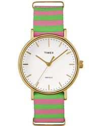 Timex Women's Nylon Watch - Metallic