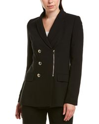hot-selling clearance bright n colour coupon code Wool-blend Jacket - Black