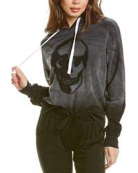 Chrldr Stencil Skull Hoodie - Black