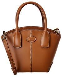 Tod's Vasa Micro Leather Tote - Brown