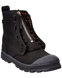 Burberry Leather Military Boot - Black