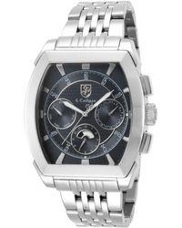 S. Coifman Stainless Steel Watch, 45mm - Metallic