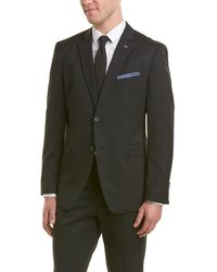 Original Penguin 2pc Wool-blend Suit - Black