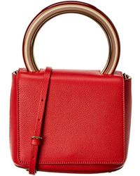 Marni Pannier Leather Flap Tote - Red