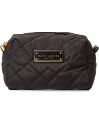 Marc Jacobs Quilted Large Cosmetic Case - Black