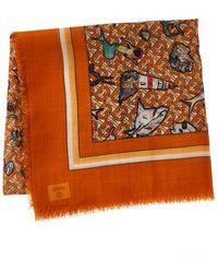 Burberry Silk & Wool-blend Scarf - Orange