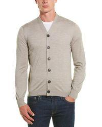 Brunello Cucinelli Wool & Cashmere-blend Cardigan - Gray