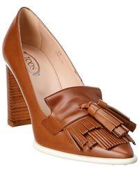 Tod's Tassel Leather Pump - Brown