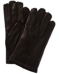 Portolano Cashmere-lined Leather Gloves - Black
