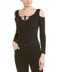 Sage the Label Cold-shoulder Bodysuit - Black